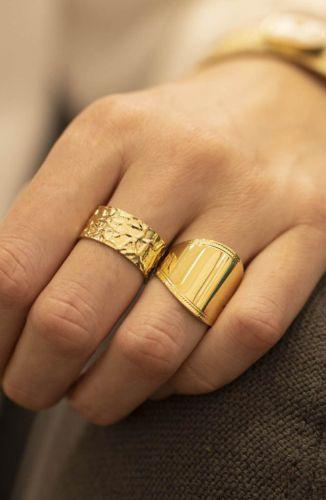 ZAG Bijoux Ring – Breed Goud