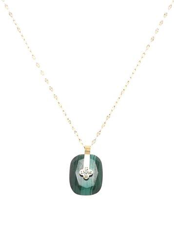 ZAG Bijoux Ketting – Malachite Amulet Steen Goud