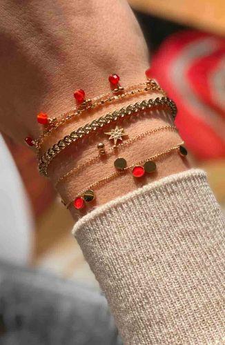 ZAG Bijoux Armband – Rode Cornaline Bedeltjes