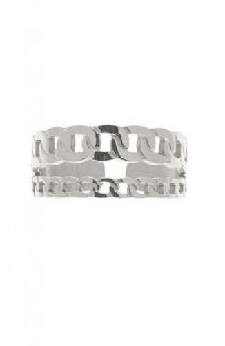 ZAG Bijoux Ring – Gourmet Chain Zilver