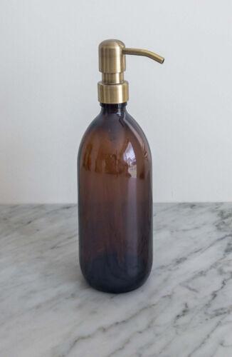 Zeeppomp bruin glas bronzen pomp