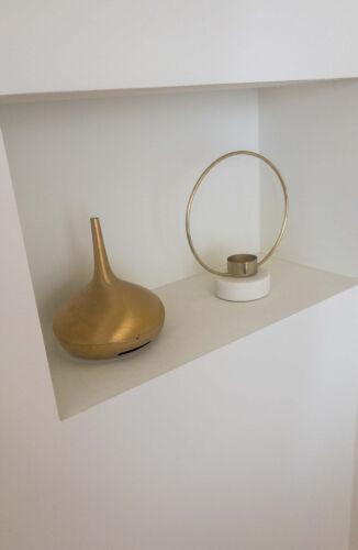 Kandelaar Gouden Ring Marmer