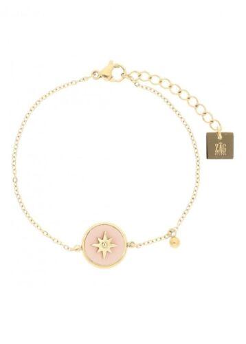 ZAG Bijoux Armband – Licht Roze Ster Goud