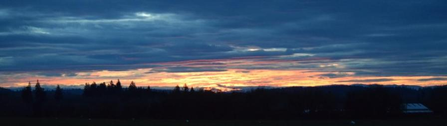 Molten gold sunrise 12-3-14