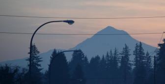 Mt Hood at dawn 12-2-14