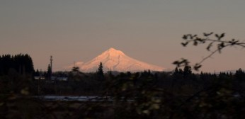 Lonely Mountain at sunset