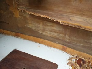 Rotted shelf - port side