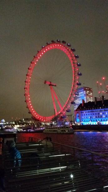 The London Eye, taken from a river boat.