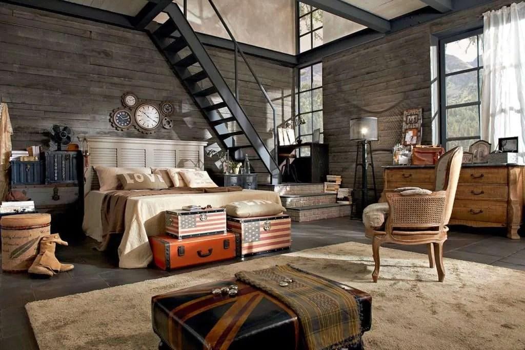 Per enfatizzare favorevolmente la linea industriale di questa camera, viene selezionato un tipo di letto non standard. Camere Da Letto Industrial By Dialma Brown Fillyourhomewithlove