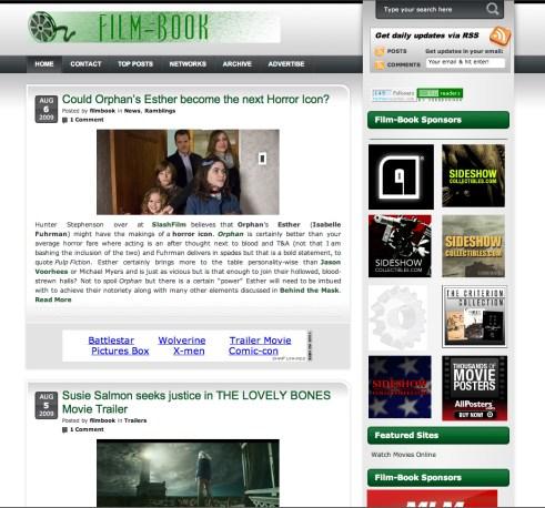 Film-Book dot Com Screenshot, Version 2.0