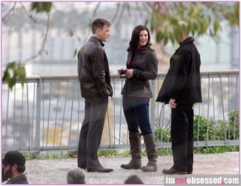 Ewan McGregor Gina Carano Haywire 2011 Set Photos 14