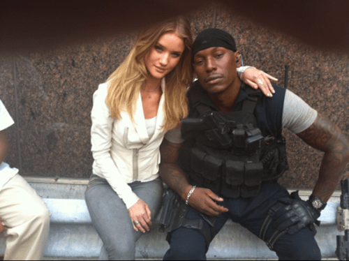 Tyrese Gibson, Rosie Huntington-Whiteley, Transformers 3 On Set