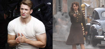 Chris Evans Hayley Atwell Captain America The First Avenger