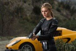 Maggie Grace, Faster, 2010, Black Leather, Gun, 01