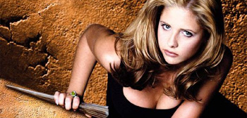 Sarah Michelle Gellar, Buffy The Vampire Slayer, stake in hand