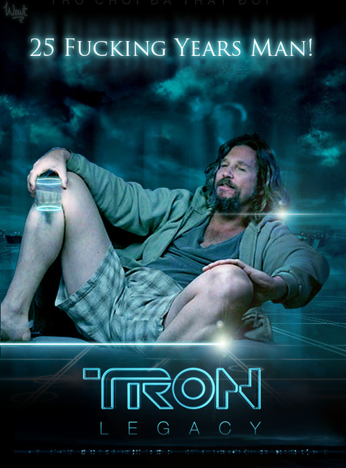 Tron Legacy, The Big Lebowski, Mash Up Movie Poster