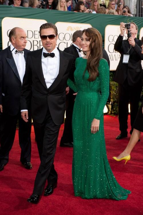Angelina Jolie, Brad Pitt, Golden Globe 2011, 01