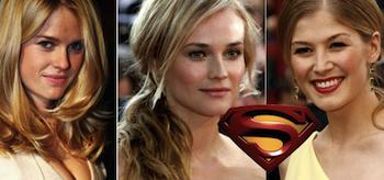 Alice Eve, Diane Kruger, Rosamund Pike, Superman: The Man of Steel