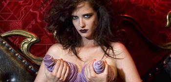 Eva Green, Goth, Purple Cone Dress, 02