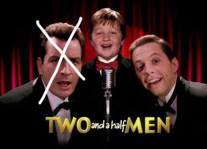 Jon Cryer, Angus T. Jones, minus Charlie Sheen, Two and A Half Men