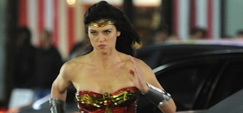 Adrianne Palicki, Wonder Woman, First Set Video
