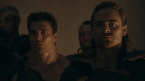 Dustin Clare, Manu Bennett, Spartacus: Gods of the Arena, The Bitter End, 01