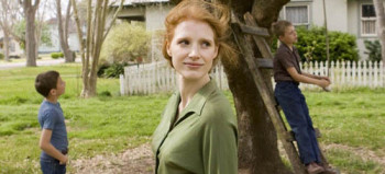 Jessica Chastain, two sons, The Tree of Life, 01