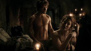 Alfie Allen, Esme Bianco, Game of Thrones, The Wolf and the Lion