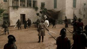Sean Bean, Nikolaj Coster-Waldau, Jamie Sives, Aidan Gillen, Game of Thrones, The Wolf and the Lion