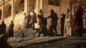 Sean Bean, Sophia Turner, Lena Headey, Jack Gleeson, Conleth Hill, Rory McCann, Aidan Gillen, Julian Glover, Game of Thrones, Baelor