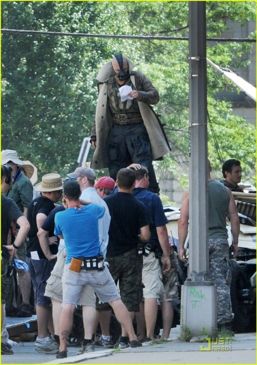 Tom Hardy, The Dark Knight Rises, 2012, Set, 01