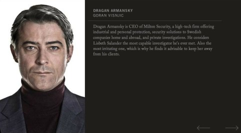 Goran Visnjic, The Girl With The Dragon Tattoo 2011, Dragan Armansky Character Profile