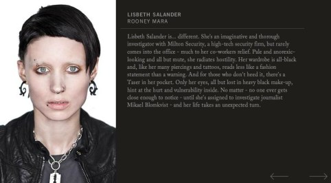 Rooney Mara, The Girl With the Dragon Tattoo 2011, Lisbeth Salander Character Profile