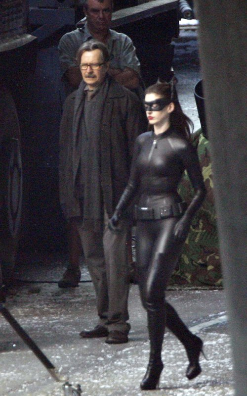 Anne Hathaway, Catwoman, Gary Oldman, The Dark Knight Rises 2012, Set 01