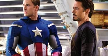 Chris Evans, Robert Downey Jr, The Avengers 2012, 01