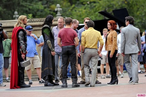 Chris Hemsworth, Jeremy Renner, Scarlett Johansson, Robert Downey Jr, Chris Evans, Mark Ruffalo, Stellan Skarsgard, Joss Whedon, The Avengers 2012, set 01