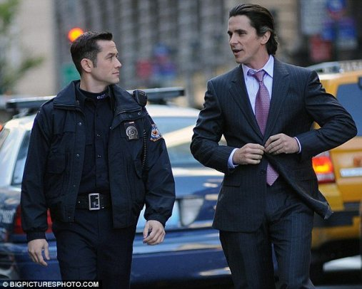 Christian Bale, Joseph Gordon-Levitt, The Dark Knight Rises, 02