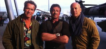 Sylvester Stallone, Arnold Schwarzenegger, Bruce Willis, The Expendables 2