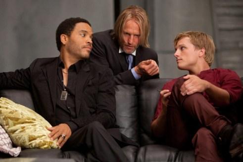 Lenny Kravitz, Woody Harrelson, Josh Hutcherson, The Hunger Games