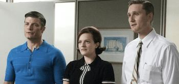 Elisabeth Moss Jay R. Ferguson Aaron Staton Mad Men A Little Kiss