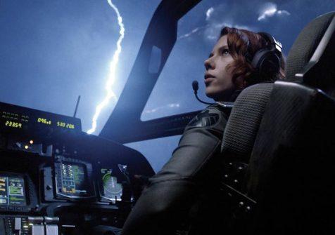 Scarlett Johansson Cockpit The Avengers