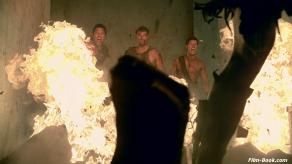 Liam McIntyre Manu Bennett Dan Feuerriegel Spartacus Vengeance Monsters