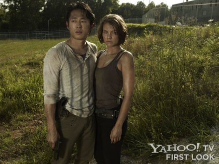 Steven Yeun Lauren Cohan The Walking Dead Season 3
