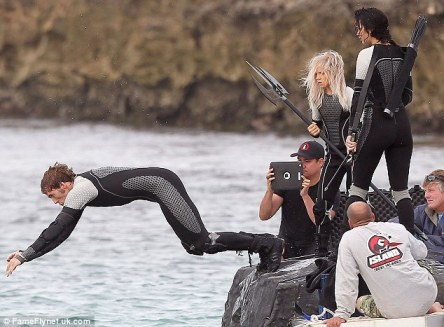 Jennifer Lawrence Lynn Cohen Sam Claflin The Hunger Games Catching Fire