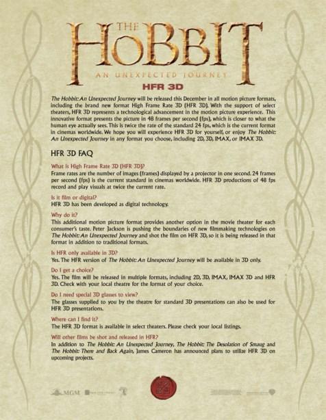 The Hobbit An Unexpected Journey HFR 3D FAQ