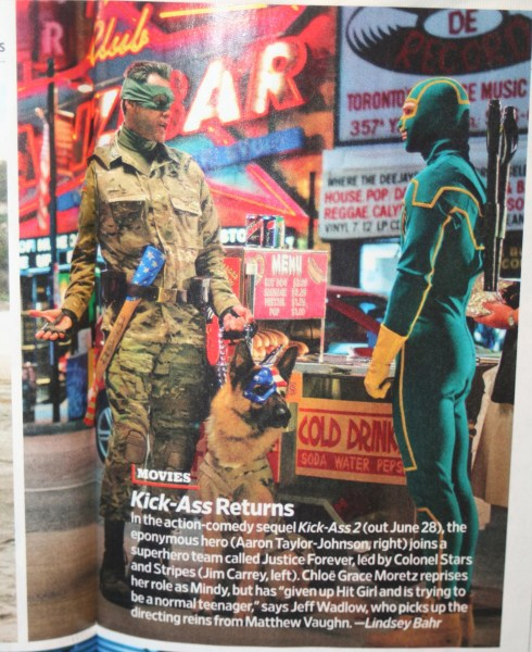 Aaron Johnson Jim Carrey Kick-Ass 2 Entertainment Weekly