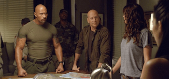 Bruce Willis Dwayne Johnson GI Joe Retaliation