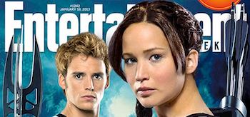 Jennifer Lawrence Sam Claflin The Hunger Games Catching Fire Entertainment Weekly Cover January 18 2013