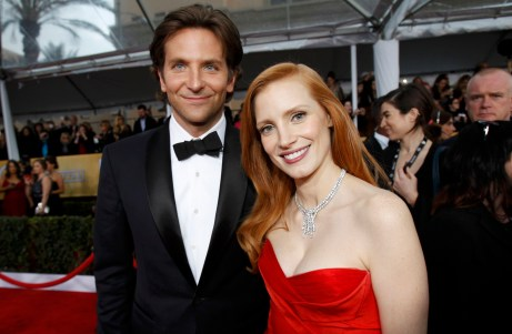 Jessica Chastain Bradley Cooper Screen Actors Guild Awards 2013