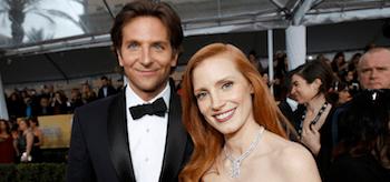 Jessica Chastain Bradley Cooper Screen Actors Guild Awards 2013